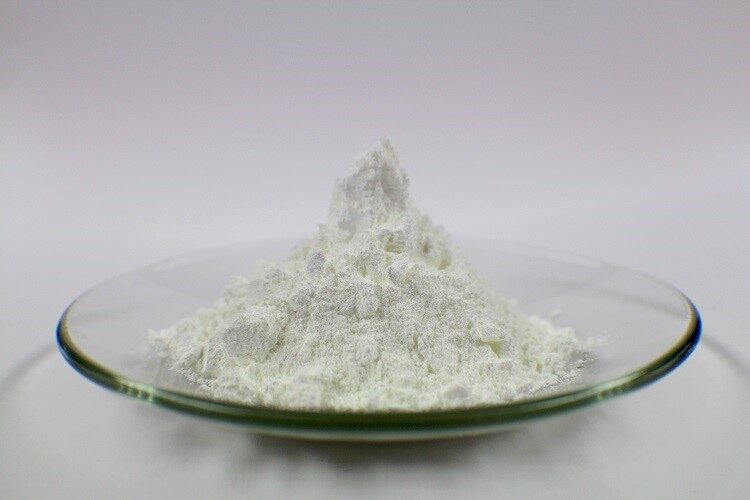zinc oxide presented on a glass plate
