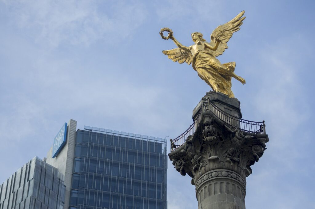 independence angel, mexico df main plaza